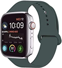 LITENG Band for Smart Watch Band 38mm 40mm 42mm 44mm Soft Silicone Sport Wrist Band Compatible with Smart Watch Series 5 Series 4 Series 3 Series 2/1 (A-Gery Olive Green, 42/44mm-ML)