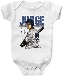 500 LEVEL Aaron Judge New York Baseball Baby Clothes & Onesie (3-24 Months) - Aaron Judge Stare