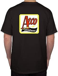 Atco Dragway Hot Rod Rat Nostalgia Drag Race Racing NHRA Black Short Sleeve Shirt (XXX-Large)