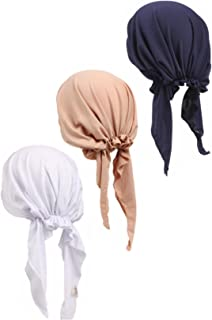 3 Pack Women Chemo Hat Beanie Scarf Turban Headwear for Cancer Patients
