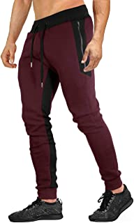 Mens Jogger Sweatpants Cotton Casual Pants for Jogging,Running,Training