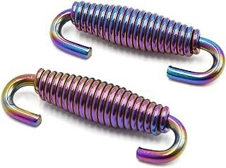8pcs 55mm en Acier Inoxydable Ton Argent Moto Ressorts de tuyaux d/échappement Crochets