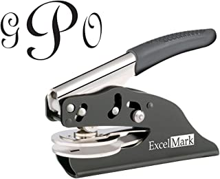 ExcelMark Hand Held Embosser - Monogram Gift Embosser – Style 25