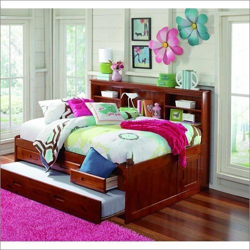 FULL BOOKCASE DAYBED - MERLOT