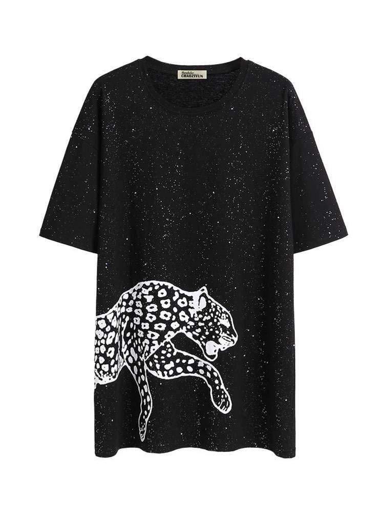 O&YQ Camiseta Negra Mujer Verano Suelta Cuello Redondo Largo Manga Corta Camisa de Fondo, Negro, SG: Amazon.es: Deportes y aire libre