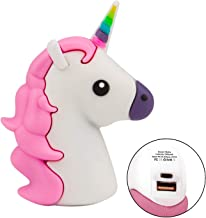 TiKeDa Prime Sale Day Deals 2019 Mini Unicorn Power Bank Portable Charger 2600mah External Charger Gift Cartoon Portable Backup Pack Compatible With iPhone Smart Phone Tablets (Mini Pink Unicorn)