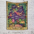 OFila 27.6x33.9 Inch Tarot Card Tapestry The Star Tooth Fairy Mysterious Medieval Europe Divination Night Elf Girl Tapestry Wall Hanging for Bedroom Living Room College Dorm Decor