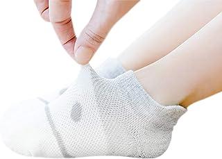 Niños Niñas Calcetines Verano Finos Paternidad Bebé Sox Calcetines de algodón Malla Transpirable Súper Elástico Diario Básico 5 pares