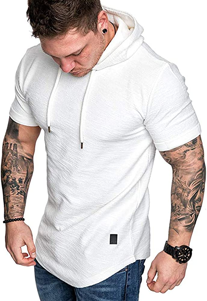 THWEI Mens Workout Max 88% OFF Sweatshirt T-Shirts Gym Hoodies Free shipping anywhere in the nation Athletic Runn