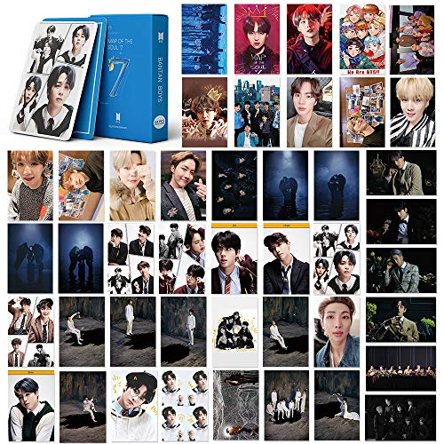 BTS LOMO Cards 54Pcs BTS Map of the soul 7 Card New album Card BANTAN Boys BTS Postcards Map 7 Cards (map 7-blue)