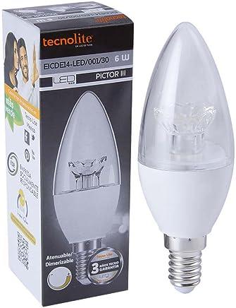 Tecnolite EICDE14-LED/001/30 Lámpara Led Base E14, Luz Suave Cálida