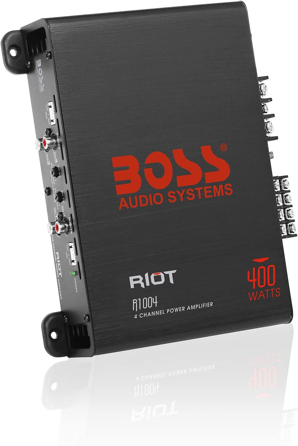 Amazon.com: BOSS Audio Systems R1004 4 Channel Car Amplifier – Riot Series,  400 Watts, Full Range, Class A/B, 2 Ohm Stable, IC (Integrated Circuit)  Great for Car Speakers and Car Stereos: Car Electronics