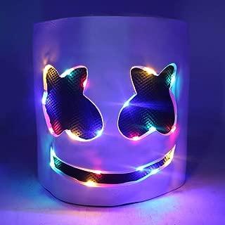 Luminous Helmet Mask Cosplay Prop Halloween Mask Full Face Cosplay Prop Halloween Party Bar Music Masks - Colorful