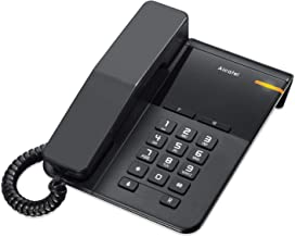 ALCATEL (アルカテル) T22 電話機 シンプル 北欧デザイン おしゃれ 受付用電話 オフィス用電話機 ビジネス 業務用電話機 家庭用電話機 ブラック