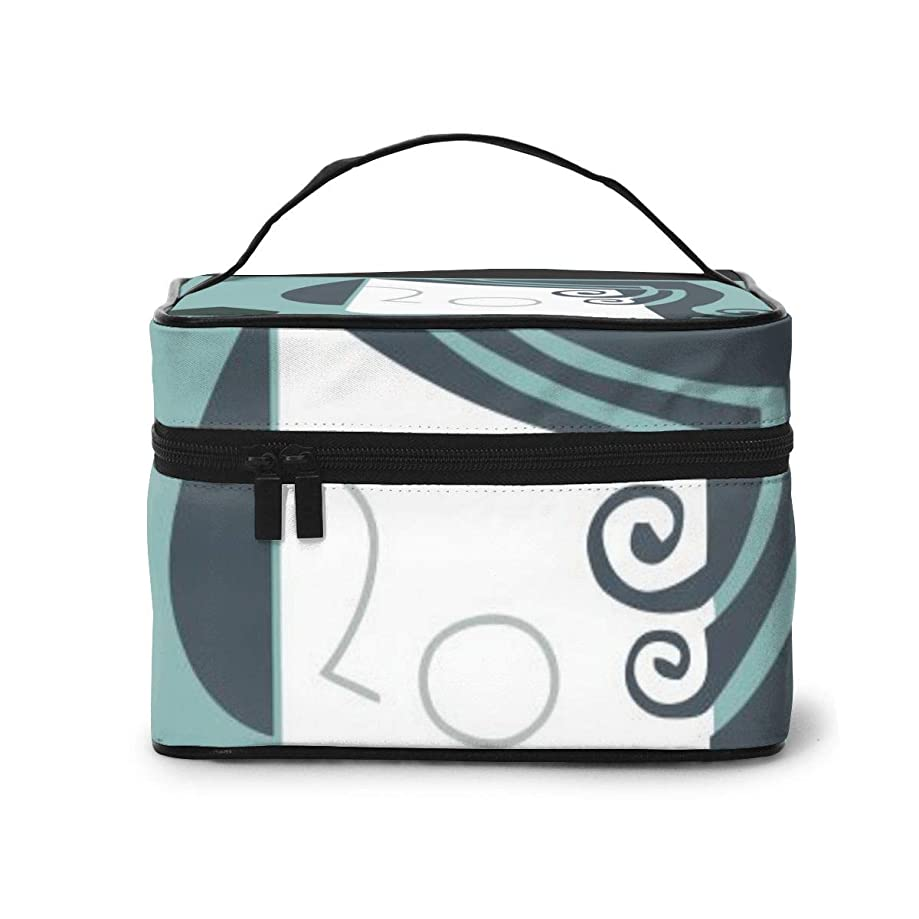 忌避剤フィドルポンプメイクポーチ 化粧ポーチ コスメバッグ バニティケース トラベルポーチ トランプ 雑貨 小物入れ 出張用 超軽量 機能的 大容量 収納ボックス