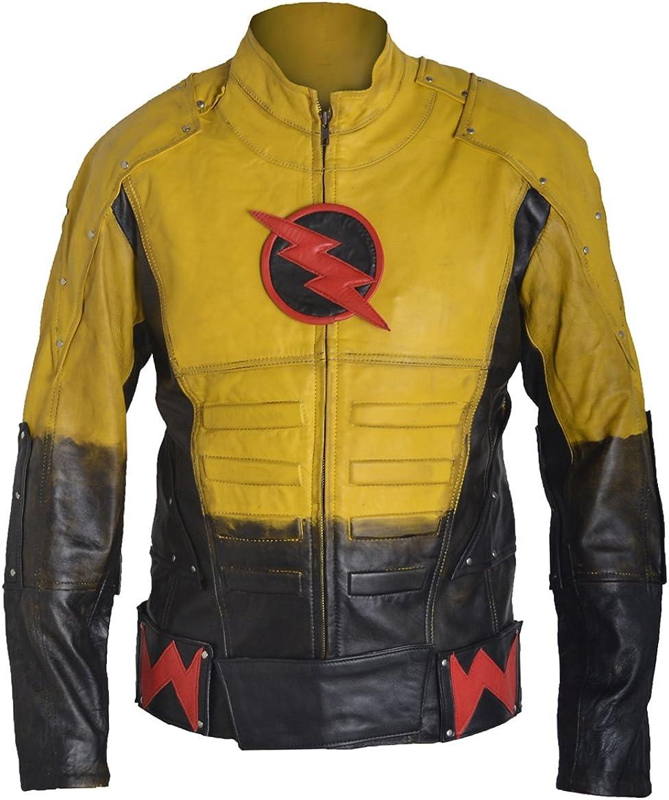 Blazrd Men's Fashion Reverse Flash Genuine Lamb Leather Jacket