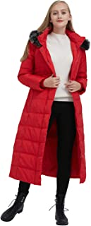 ilishop Women's Thickened Maxi Down Jackets- Hooded Long Down Jacket Winter Parka Puffer Coat