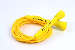 RUSH ATHLETICS Speed Rope - Best for Boxing MMA Cardio Fitness Training - Speed Agility Condition - Adjustable 10ft Jump R...