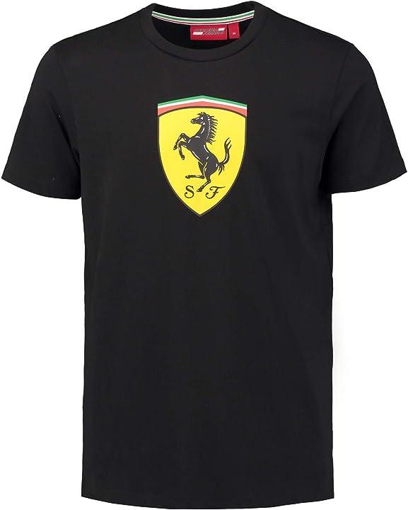 Maglietta ferrari 2018 scuderia mens classic logo cotone t-shirt merchandise ufficiale FER-130181066-100-230