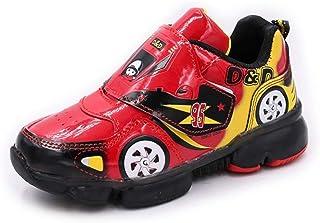 Zapatillas de Dibujos Animados para niños Primavera otoño Invierno Luces de Colores Cuero Coches Deportes Casuales Zapatos de Correr Zapatos bebé Zapatos para Caminar