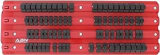 ABN Socket Organizer Socket Holder – 1/4in, 3/8in, 1/2in Drive 80-Piece Socket Rail Clips – Socket Organizer Tray