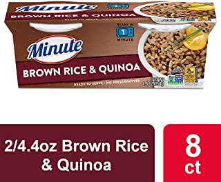 Minute Ready To Serve Rice, Brown Rice & Quinoa, 2/4.4 oz Cups (Pack of 8)