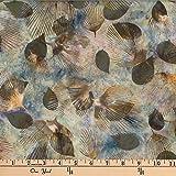 Hoffman 0668219 Bali Batik Fan Leaf Stone Fabric Stoff, By