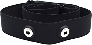 Chest Belt Strap for Heart Rate Monitor Adjustable Replacement Strap for Polar Wahoo Garmin