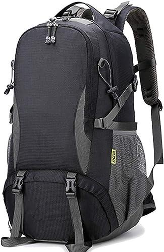 Lym-sac Sac à Dos Anti-vol, Sac d'alpinisme en Plein air pour randonnée, Sac à Dos léger et imperméable, Noir