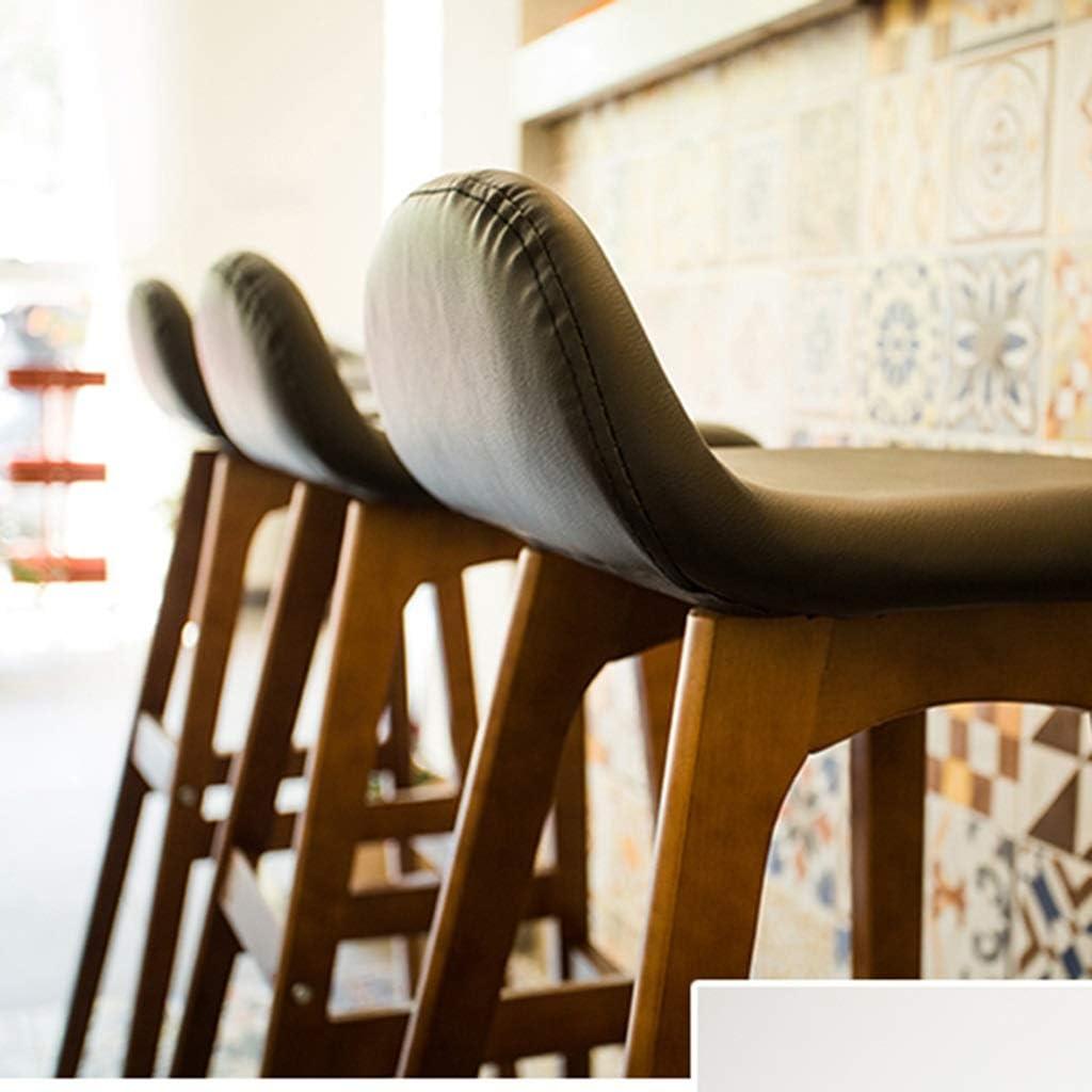 Tabouret de bar de petit déjeuner Tabouret de bar, Chaise en bois massif minimaliste moderne, Chaise haute de café (Couleur : I) B