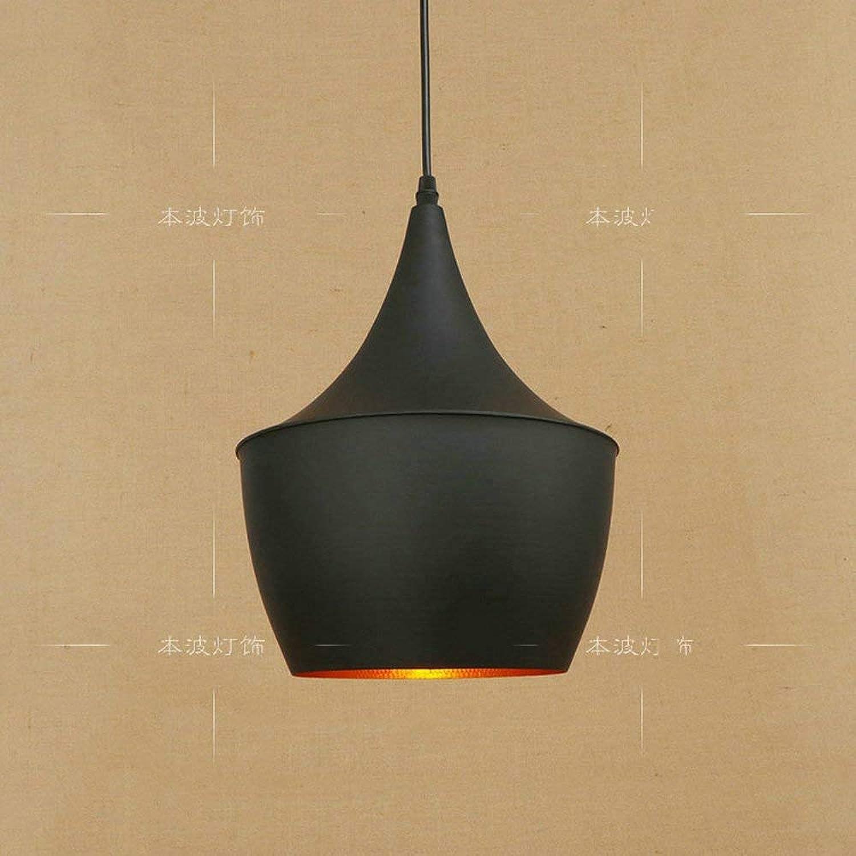 Zhang Ying ZY Vintage Deckenpendelleuchte 1-Light Schwarz Lackierung Pendelleuchte Droplight für Kitchen Island Bar Flur Esszimmer E27 Antik Verstellbarer hngender Draht (Gre  Stil A)