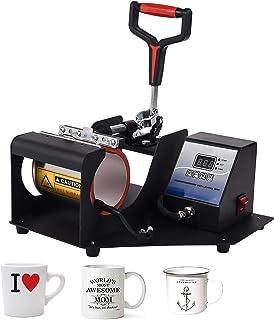 VINMEN Taza de prensa de calor, DIY tazas de sublimación, máquina de impresión de calefacción de sublimación, máquina de p...
