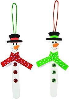 Stick Snowman Ornament Craft Kit (1 Dozent) by FX
