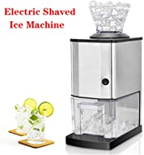 Electric Shaved Ice Machine, stainless steel Automatic high-power ice maker,Bar milk tea shop hotel Ice Crusher