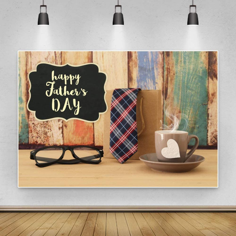 Qinunipoto 10x8ft Polyester Our shop OFFers the best service Happy Backdrop Day outlet Father's Glasses