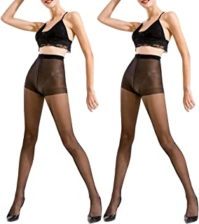 Women's Pantyhose Waist Sheer Stockings Solid Color Sexy Casual Tights 15 Denier