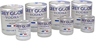 Grey Goose Vodka Reclaimed Bottle Glasses Drinkware Barware Glassware Gift Set Tumblers and Shots