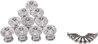 AJSN 10pcs Citrouille Cabinet Boutons Poignées Zips Armoires, Armoire Commode, tiroirs, Meubles de Cuisine (Color : Silver)