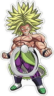 MIM Global Dragon Ball Z Super GT Phone Ring Finger Holder Grip Keyring Compatible with All Mobile Phones Tablets Devices (Broly)