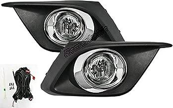 RP Remarkable Power, FL7071 Fit For 2014-2016 3 Fog Lights Clear Lens Bumper Lamps Kit