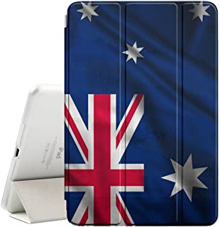 FJCases Australia Australian Waving Flag Smart Cover Stand + Back Case with Auto Sleep/Wake Function for Apple iPad Air 2