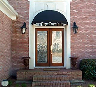 Dome Style Window Awning or Door Canopy 5' Wide in Sunbrella Awning Fabric - Black