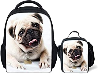 Beautiful Classic Temperament Cool Bulldog Printed Teenager Boys Girls Mini School Backpacks with Thermal Insulated Lunch ...