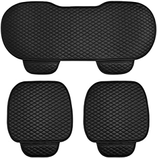 3 Pieces/SET Universal Leather Car Seat Cover 2pcs Front Seat Covers and 1pcs Backseat Seat Cover Black