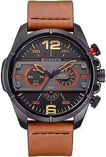 yongke 8259 Quartz Man Watch Unique Fashion Sport Casual Brand Clock Business Original Movement Leather Waterproof Wrist W...