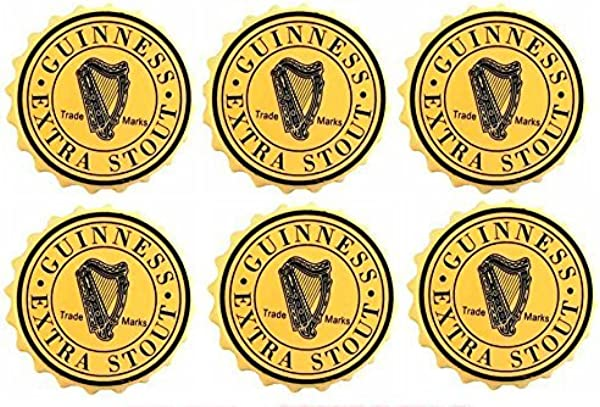 Guinness Extra Stout Rubber Bar Coasters Spill Mats Set Of 6