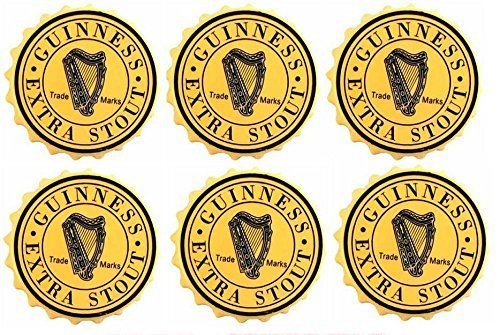 Guinness Extra Stout Rubber Bar Coasters Spill Mats set of 6 by Guinness