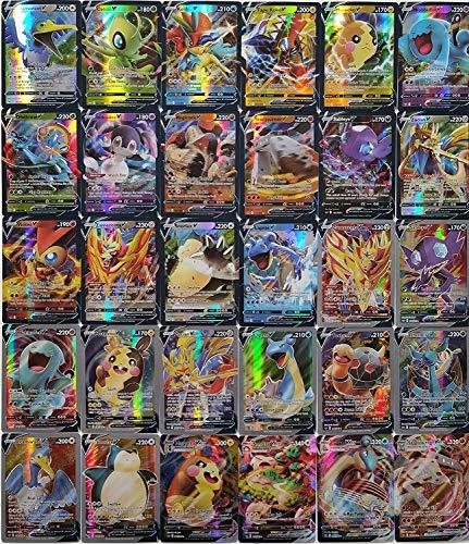 Blesser Cartes Pokemon Vmax et V, 30 pièces Carte Pokemon à Collectionner