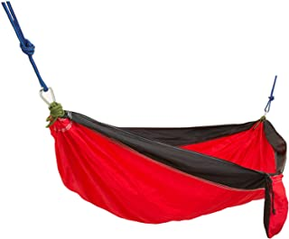 Equipped Outdoors 1-Person High-Thread-Count Parachute Hammock with Ropes and Carabiners - Camping Hammock