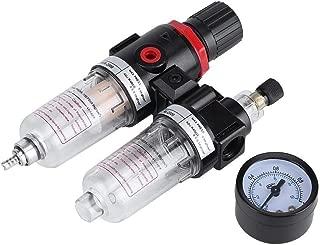 hjgnbiohg Filtro de Aire Regulador - Lubricador de presión de Agua Compresor de Humedad Trampa Separador de Aceite 1/4 ''